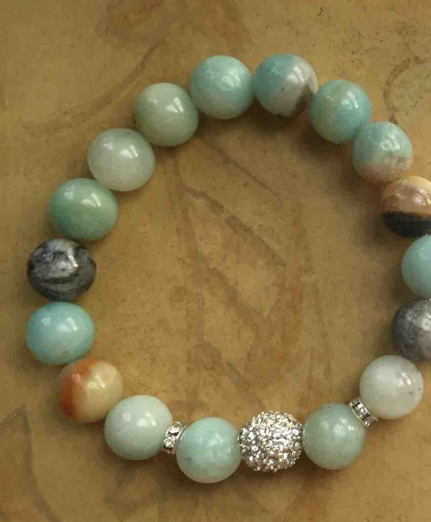 bracelet jewelry amazonite courage products handmade gwen collections by lane frontpage